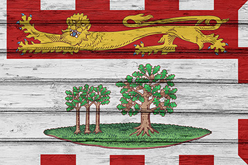 The flag of the Dominion of Prince Edward Island