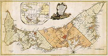 Prince Edward Island, then St. John's Island, map 1775